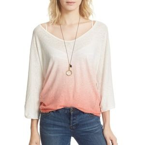 Free People Strawberry 3/4 Sleeve Top (M)
